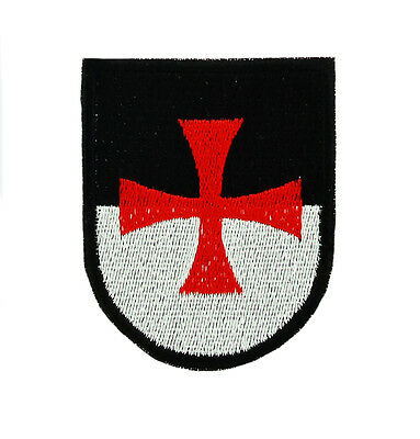 Knights templar shield iron on patch flag crusades backpack crusades