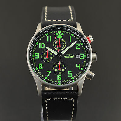 ASTROAVIA AIR CRAFT No.4L - 6 ZEIGER PROFI CHRONOGRAPH FLIEGERUHR NEU