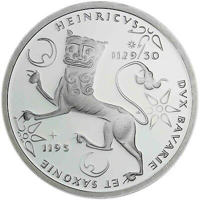 Germany 10 DM Silver 1995 BU Henry the Lion Silver-Coin in Capsule