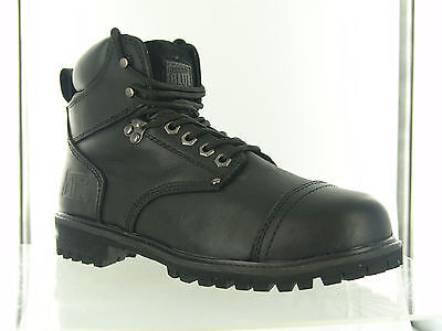 Rugged Blue RB2 Mens Steel Toe Work Boots - Black - Men's Sizes 10.5M and 8M