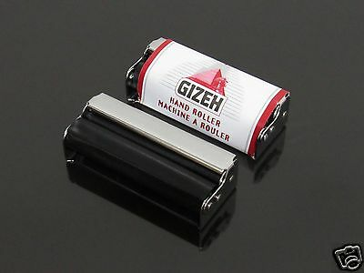 GIZEH 70mm Metal Cigarette Tobacco Rolling Machine + 1 Booklets Papers #282