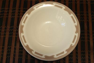 Vintage 1940's Wallace China Cereal Soup Bowl White Brown Hotel Restaurant Ware