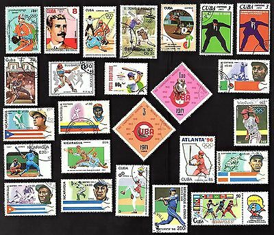 25 All Different  BASEBALL  STAMPS