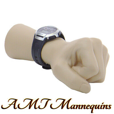 1 male female mannequin hand, life size S,display watch, leftt hand -man's- FIST