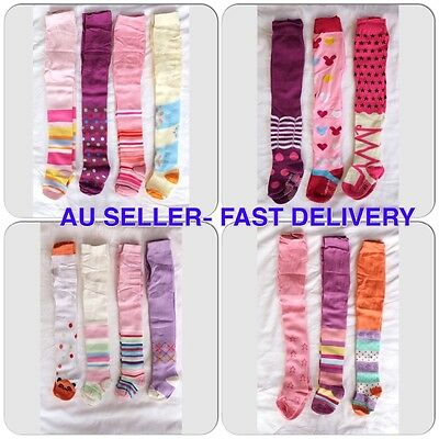 Stylish baby toddler girls leggings tights pants leg warmer socks pink purple