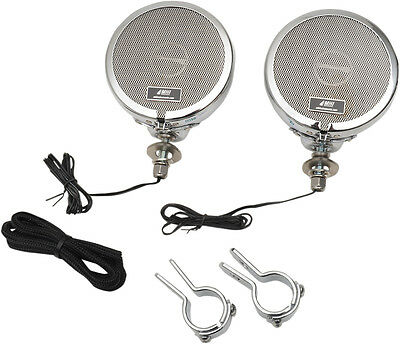 """MH Motorcycle Rumble Road Limited Stereo Chrome System For 1 1/4"""" Bars"""