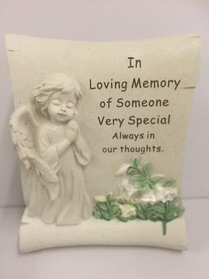 New GRAVE MEMORIAL SCROLL In Loving Memory of Someone Very Special - Ornament