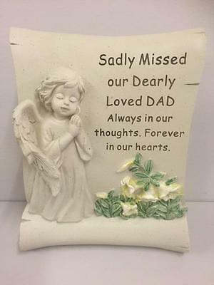 New GRAVE MEMORIAL SCROLL for DAD Graveside Garden Remembrance Ornament