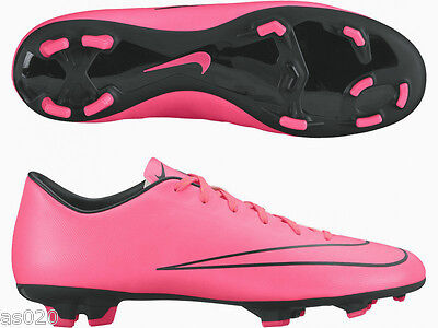 Nike Mercurial Victory V Junior Kids Studded FG Firm Ground Football Boots  Pink