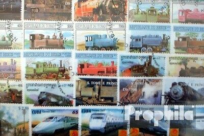 Motives 200 different Railway stamps