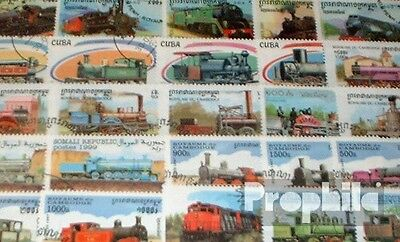 Motives 50 different steam railway stamps