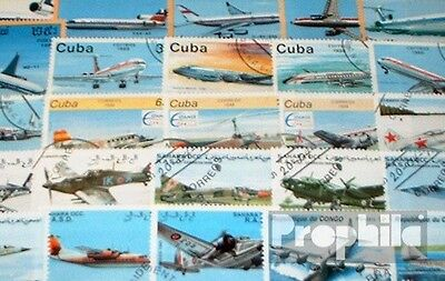 Motives 100 different Aircraft stamps