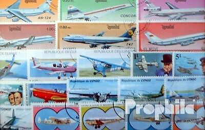 Motives 250 different Aircraft stamps