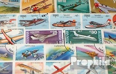 Motives 50 different Aircraft stamps