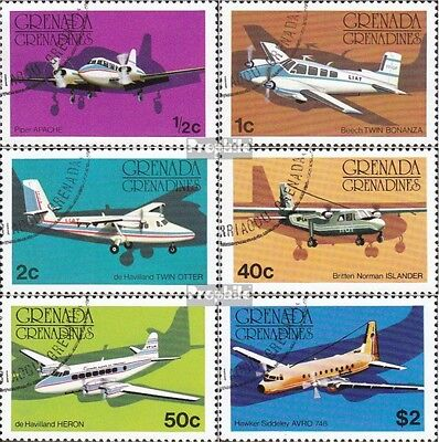 Grenada-grenadines 186-191 (complete issue) used 1976 Aircraft