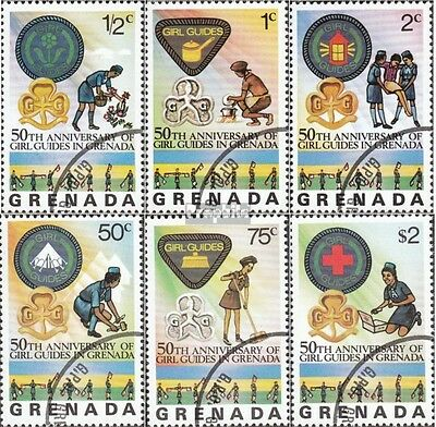 Grenada 758-763 (complete issue) used 1976 Girl Scouts on Grena