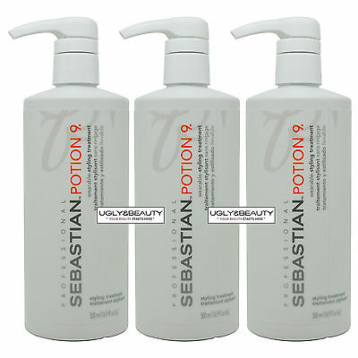 "Sebastian Potion 9 Styling Treatment 16.9 fl. oz. / 500 ml ""Pack of 3"""