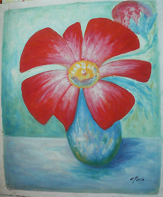 "Flower Oil Painting Art Rolled Or Stretched 20X24"" 30 Different Ref3"