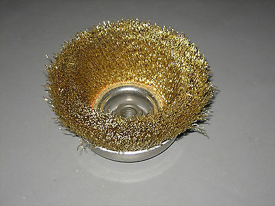 Spiral Brushes 66275 Brass .020 Wire 6000 RPM Standard Duty Cup Brush 5/8-11 Hub
