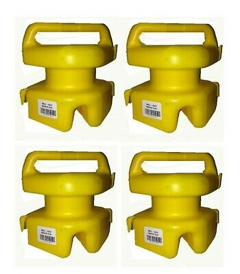 4 x Seahorse Lokstak Multi Float Connectable Marker Bouys/Crab Pot Floats-Yellow