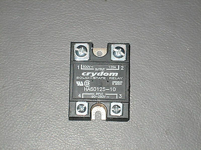 CRYDOM HA60125-10 90-280VAC Input 600V~-125A Output Solid State Relay