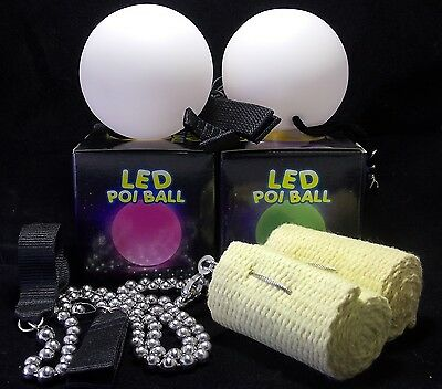 75mm FIRE POI AND LED POI PACKAGE DEAL