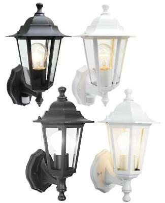 6 Sided Outdoor Wall Lantern Black Or White Motion Sensor Detector PIR Sensor