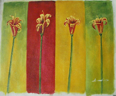 "Flower Oil Painting Art  Rolled Or Stretched 20X24"" 30 Different Ref6"