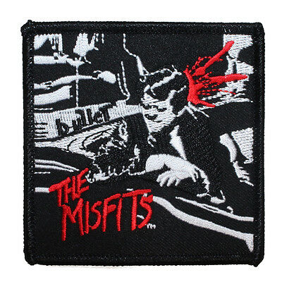 "Punk Rock Band ""The Misfits: Bullet"" Artwork Patch Embroidered Iron-On Applique"