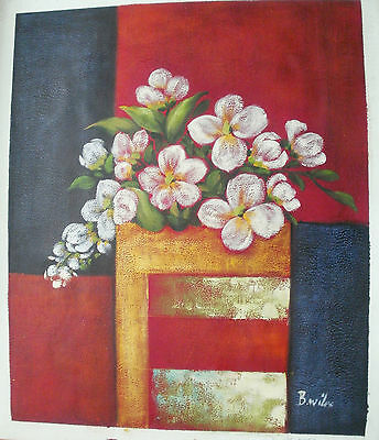 "Flower Oil Painting Art Rolled Or Stretched 20X24"" 30 Different Ref8"