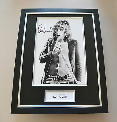 Rod Stewart Signed Framed 16x12 Photo Autograph Display Music Memorabilia + COA