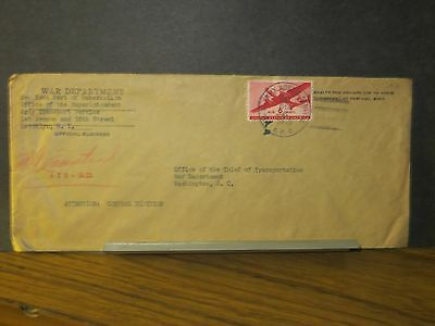 APO 531 TUNIS, TUNISIA, NORTH AFRICA WWII Official Army Cover 1943