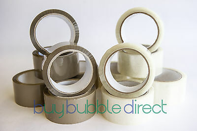 `Brown / Clear Packaging Tape 12mm and 48mm width various listings