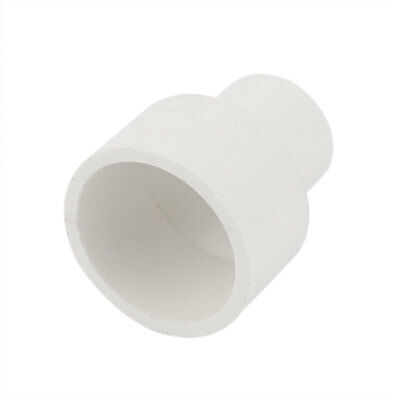32mm 20mm Inner Hole Dia 2 Way PVC Water Pipe Hose Adapter Connector White