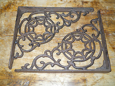 2 Cast Iron Antique Style LARGE WEB Brackets, Garden Braces Shelf Bracket