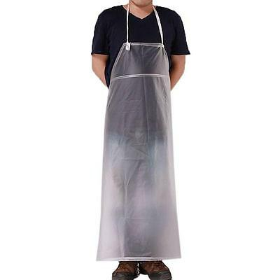 Kitchen Plastic Waterproof PVC Long Apron Industrial Bib Smock Cleaning 3 Colors