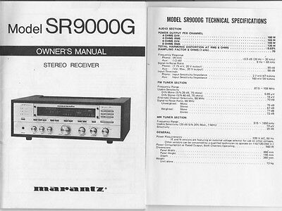 marantz sr9000g surround receiver owners manual 18 99 picclick rh picclick com marantz sr8500 service manual Marantz AV7701