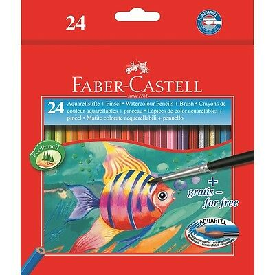 Matite Colorate Acquerellabili Faber Castell 24 Pastelli Colorati Assortiti
