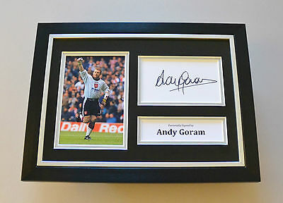 Andy Goram Signed A4 Photo Framed Genuine Rangers Autograph Display + COA