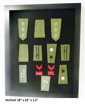 small Display Case Cabinet Box for Military Pins Patches Insignia Ribbons VorH