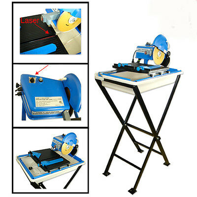 """Electric Ceramic Tile Saw Cutter Wet Dry w/ Stand 7"""" Blade Laser Marble Masonry"""