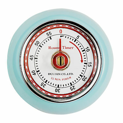Eddingtons Magnetic Retro Style Kitchen Timer - Blue 55 min countdown