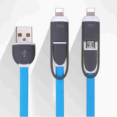 New Style 2 in 1 Micro/Ligntning Charging USB Cable for Android and iPhone Phone