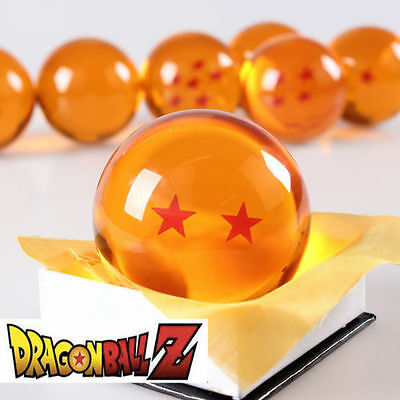 New Dragonball Z Dragon Ball Large 2 Stars Crystal Resin 3'' 7.6cm 1pc only USA