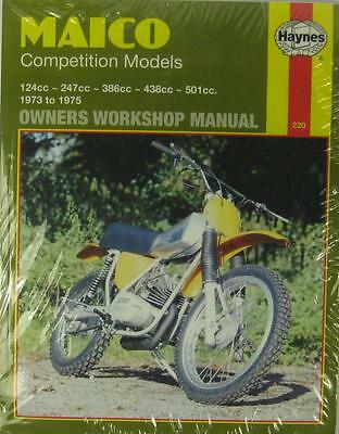 HAYNES WORKSHOP MANUAL for MAICO COMPETITION MODELS, 1973 to 1975