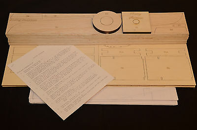"Royal 1/5.5 Scale BOEING STEARMAN PT-17 Laser Cut Short Kit & Plans 68.3/8"" WS"