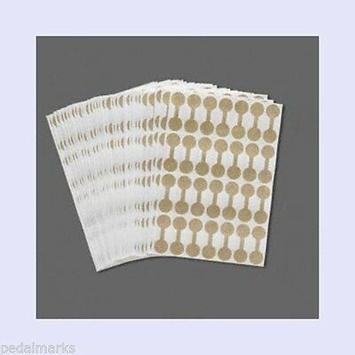 """100 Blank GOLD Tags SHARK SKIN Mylar Price Repair  7/16"""" round ~ Ring Size Label"""