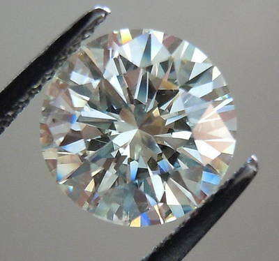 3.00 ct 9.45 mm off white color brilliant cut loose moissanite for ring GEM EDH