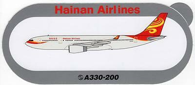 Airbus A330-200 Hainan Airlines Sticker (Very Rare)