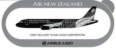 Air New Zealand First Delivery Black Paint Livery A320 Sticker (Ultra Rare)
